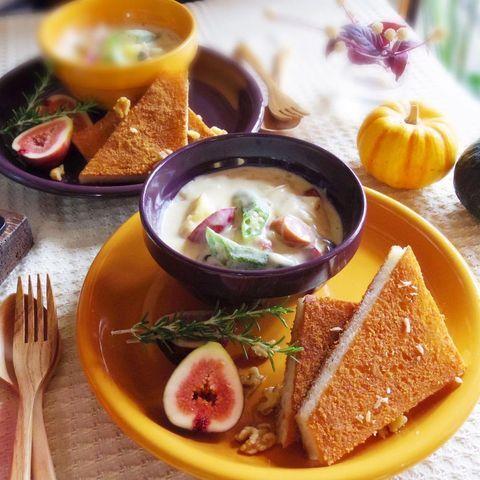 秋野菜のクリームスープ