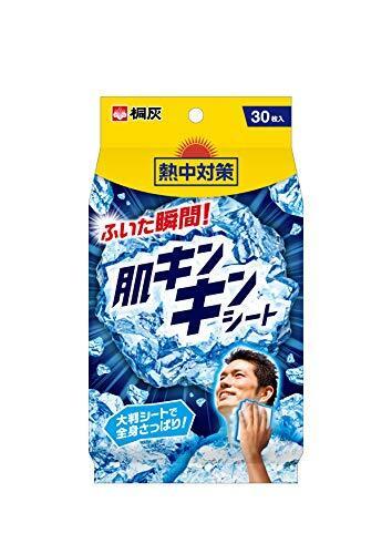 桐灰化学 熱中対策 肌キンキンシート 大判シートで全身さっぱり 30枚