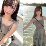 """由良ゆら、夏のデートを感じさせる海辺の写真 得意の""""ゆらぺろ""""も披露"""
