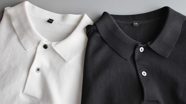無印良品 「UVカット強撚ポロシャツ」 白、黒