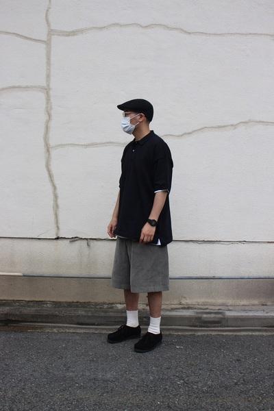 無印良品 「UVカット強撚ポロシャツ」 男性 着用