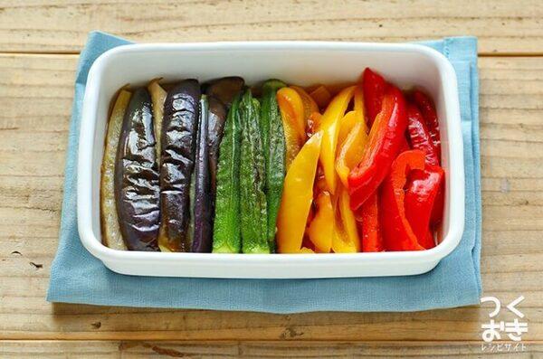 子供に食べてほしい!夏野菜の焼きびたし