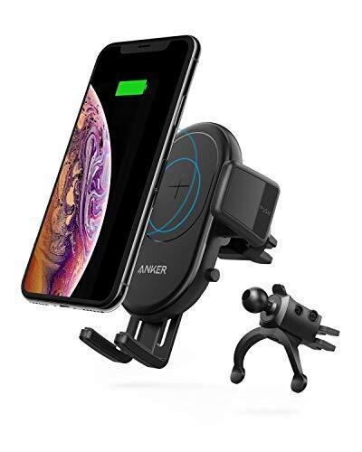 Anker PowerWave 7.5 Car Mount 車載 ワイヤレス充電器 Qi 認証 エアコン吹き出し口取り付け 360°回転 iPhone Galaxy LG その他Qi対応機器 互換対応