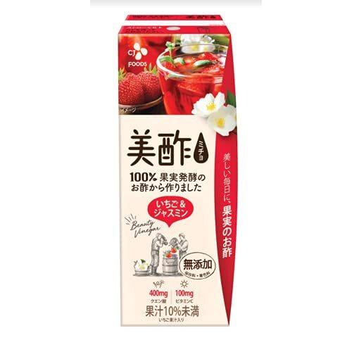 CJジャパン 美酢(ミチョ) いちご&ジャスミン 200ml紙パック×24本入×(2ケース)