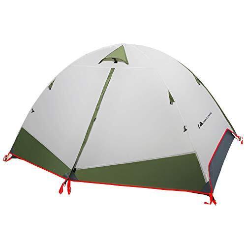Moon Lence テント 1人用/2人用 アウトドア用 自立式 二重層 コンパクト 超軽量2.35kg PU2000mm アルミ合金ポール ソロキャンプ 防災 組立簡単 通気