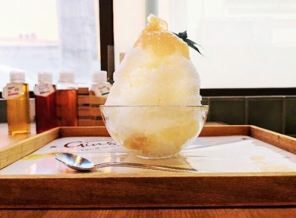京都府京都市・蜂蜜専門店「ミールミィ三条本店」自家製蜂蜜のかき氷(ハニージンジャー)
