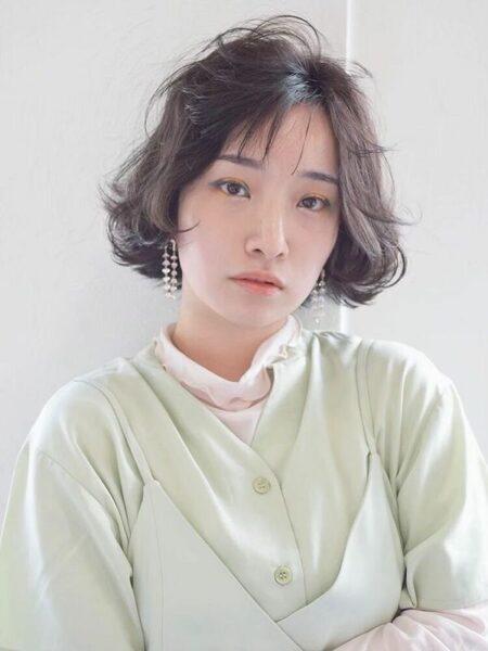 人気の韓国風黒髪ボブ10