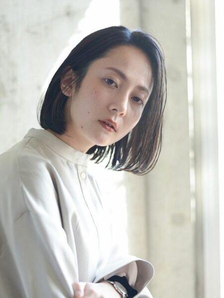 人気の韓国風黒髪ボブ7