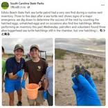 双頭の赤ちゃんウミガメを発見 1つの甲羅をシェアして海へ(米)