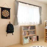 本が増えても模様替えにも安心!伸縮できる子供部屋の本棚