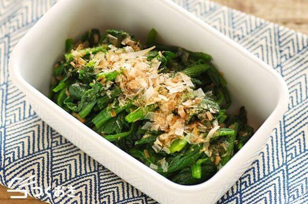 彩り副菜♪ほうれん草のおかか和えレシピ