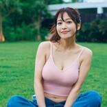 """鷲見玲奈、タンクトップの""""健康美"""" 1st写真集から未収録カット公開"""
