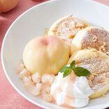 【1日20食】山梨県産『白桃』をまるごと堪能!「奇跡のパンケーキ 甘熟白桃」