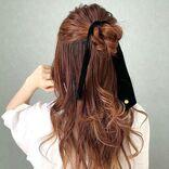 ハーフアップ×お団子は前髪なしが可愛い!ラフさが色っぽい、簡単アレンジをご紹介