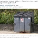 焼死した女性の遺体をマネキンと勘違い 警察が廃棄処分に(カナダ)