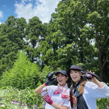 石川恋、トラウデン直美と笑顔で農業女子ショット