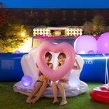 大阪市の温泉型テーマパークでプチナイトプール&夜市を開催 庭園でグランピングやテントサウナも