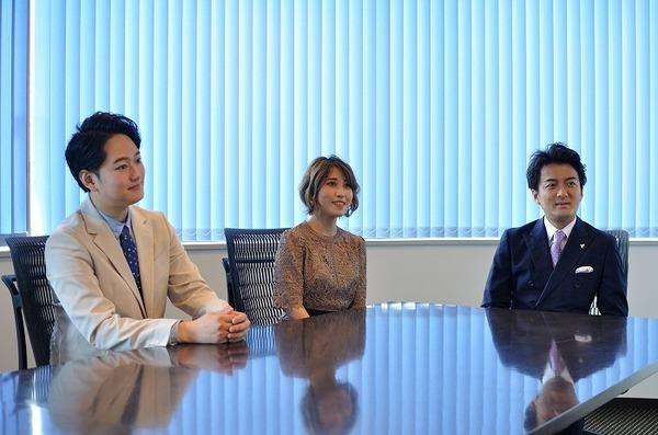 左から 菅原洋平(バリトン)、今井実希(ソプラノ)、新堂由暁(テノール)