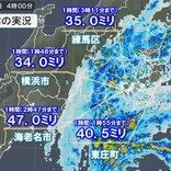 「台風10号」接近中 東京都内や神奈川県、千葉県で1時間に30ミリ以上の激しい雨