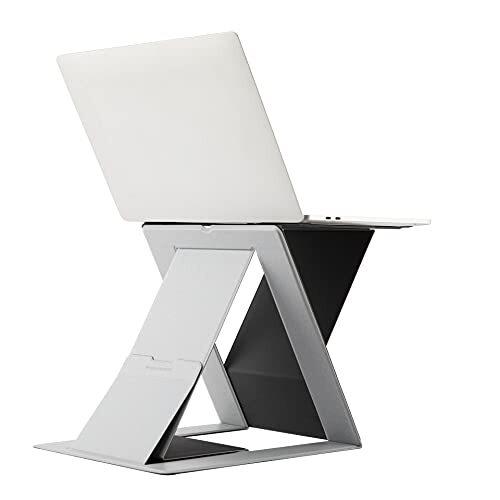 MOFT ノートパソコンスタンド PCスタンド PCケース キャリーケース スタンディングデスク 角度調整 スタンディングデスク 軽量 MacBook デスク 薄型 軽量 (スタンディングデスク, Gray)