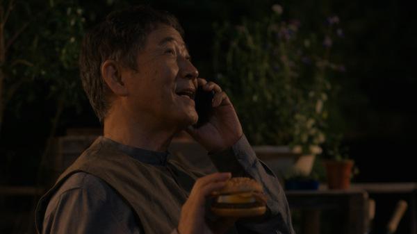 テレビCMで父親役の小林薫さん