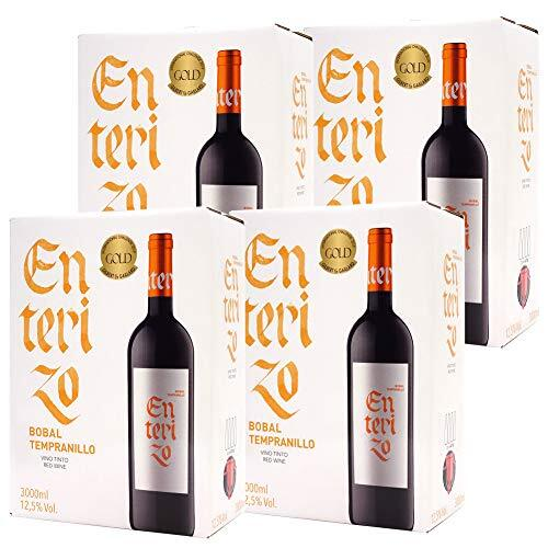 4箱セット 【金賞受賞 スペイン秀逸蔵】ボックスワイン 赤ワイン 辛口 3000ml×4箱 エンテリソ ティント バッグ イン ボックス ボデガス コヴィニャス((HJCIBTZ4))