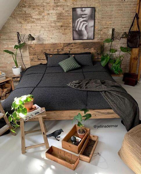 グリーンインテリア寝室3