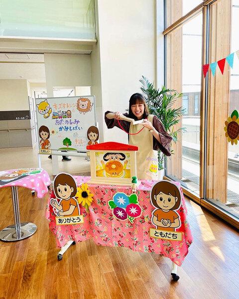 「TOKYO MER」では入院中の子供たちを支えるNPOのスタッフを好演。トップ画像ともに佐藤栞里公式インスタグラム(@satoshiori727)より。