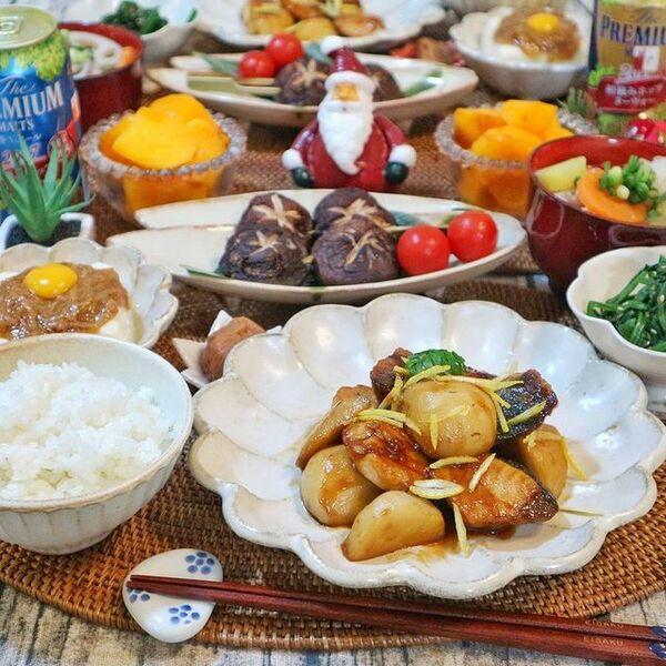 ブリ、里芋、煮物、生姜。