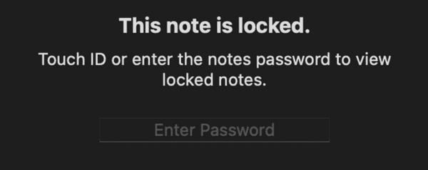 TouchIDでのロック解除
