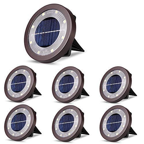 ソーラーグラウンドライト ソーラーライト 防犯ライト 屋外 埋め込み式 暖色系 電球色 ガーデニング ip65防水 ステンレス鋼 プラスチック素材 ガーデン、庭、芝生、公園、玄関先、歩道に適う アウトドア用ライト 6個セット