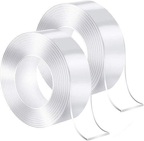 両面テープ魔法の両面テープ壁紙両面テープ剥離可能防水テープ耐衝撃性強い透明滑り止め厚みのある透明テープ強い粘着家具は落ちにくい(2cm * 0.2cm * 3m)(3cm * 0.2cm * 3 )m)2個