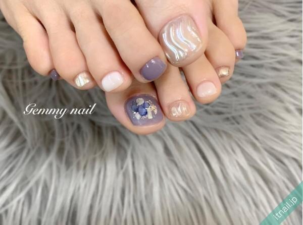 Gemmy nailが投稿したネイルデザイン [photoid:I0078343] via Itnail Design (653932)