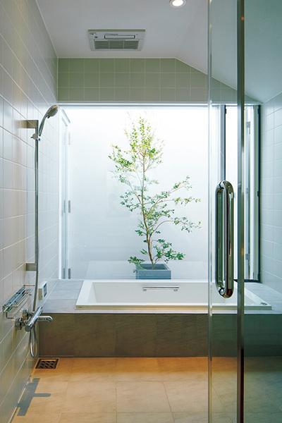 浴室から緑を楽しむ