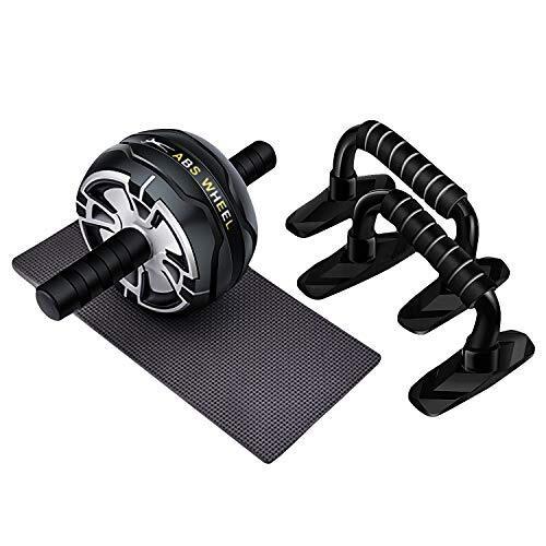 CATOOM 腹筋ローラー マット付き + 腕立て、 アブホイール、 エクササイズウィル 耐荷重220KG 筋トレグッズ