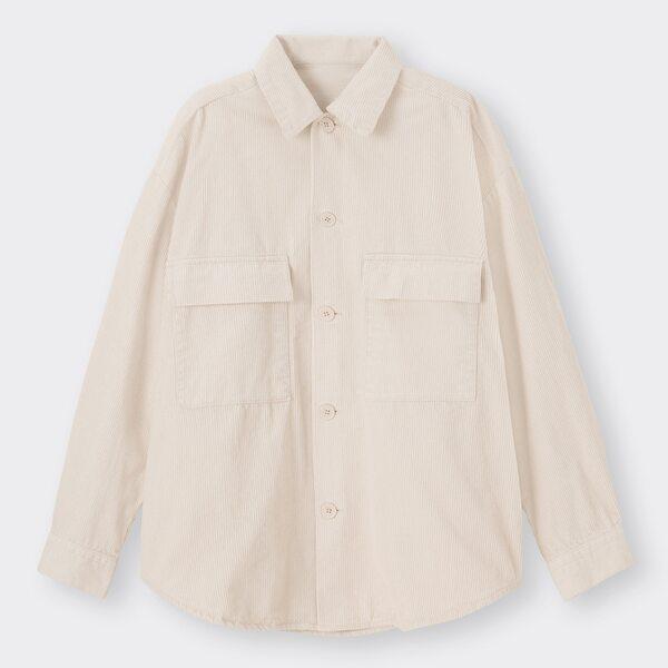 GUのコーデュロイCPOシャツ