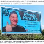 300社不採用の男性「僕を雇って」巨大看板で売り込む(北アイルランド)<動画あり>