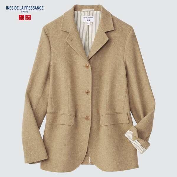 ユニクロのウールリネンブレンドジャケット