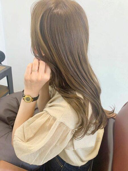 韓国風くびれロング×明るめベージュ