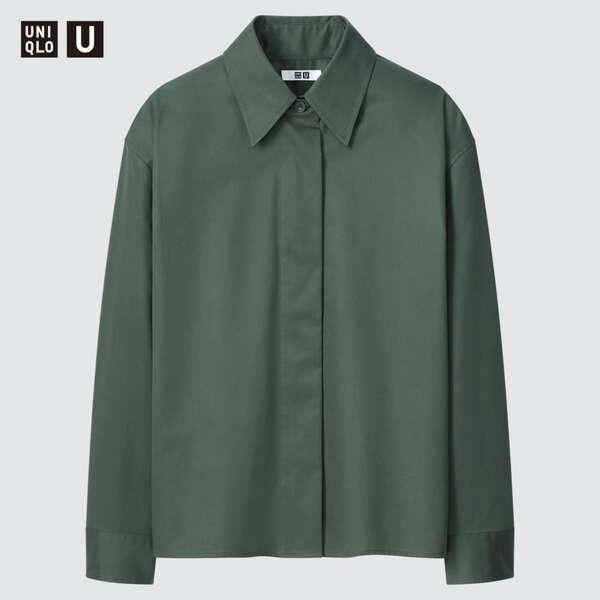コットンサテンシャツジャケット