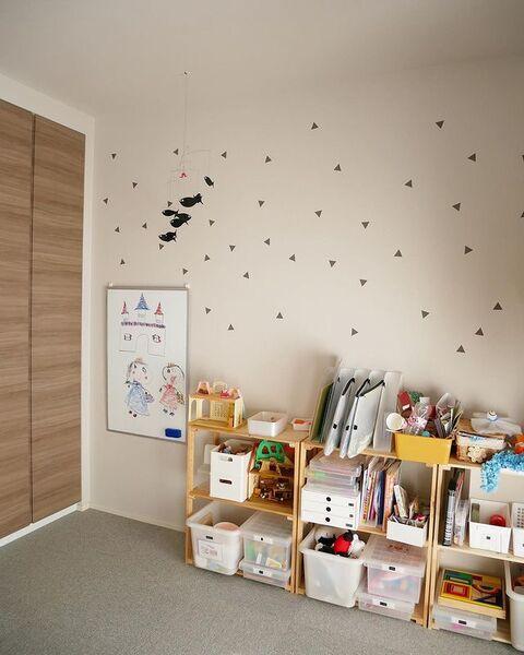 壁面デコレーションが可愛いキッズスペース