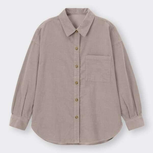 GUのコーデュロイシャツ