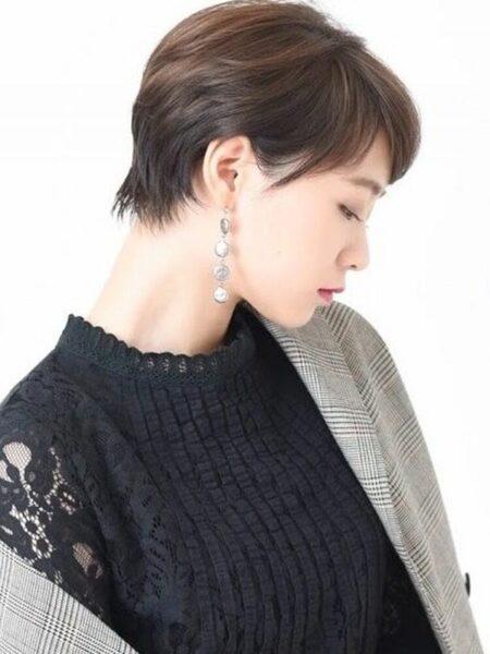 美人感漂う髪型のトレンドショートヘア