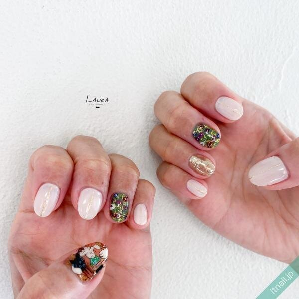 LAURA POMPONNEEが投稿したネイルデザイン [photoid:I0098611] via Itnail Design (651890)