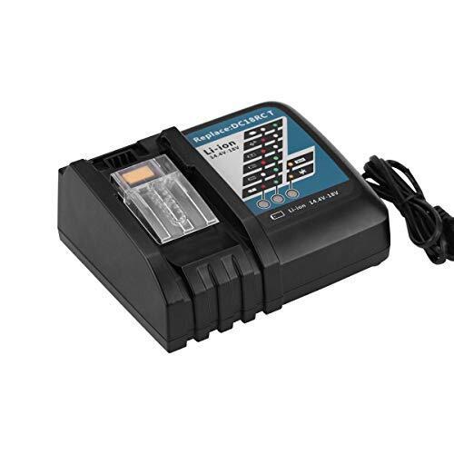 Vindoo 互換 マキタ充電器 DC18RC マキタ 18v 充電器 14.4V/18Vリチウムイオンバッテリ用 マキタ 電池 BL1430 BL1440 BL1450 BL1460 BL1815 BL1830 BL1840 BL1850 BL1860 BL1430B BL1460B BL1830B BL1850B BL1860B など 充電可能 充電完了メロディ付