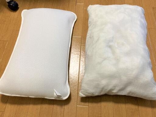 カバーをはずした枕