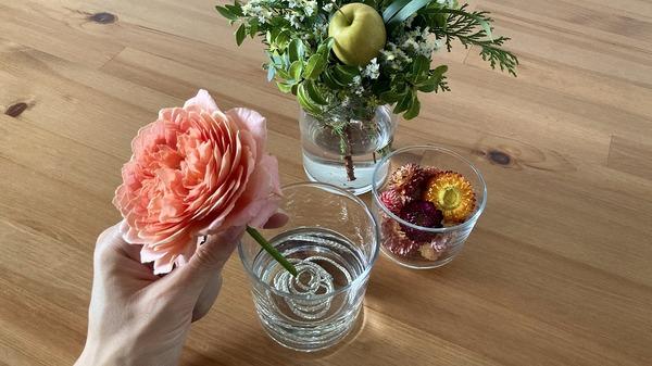 無印良品 「強化ガラス ボデガ」Mサイズ 切り花を生ける