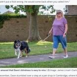 9か月間一緒に過ごした愛犬が盲目と分かり驚愕「第六感が働いているのかも」(英)