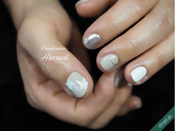 Private salon Ake nailが投稿したネイルデザイン [photoid:I0095793] via Itnail Design (653506)