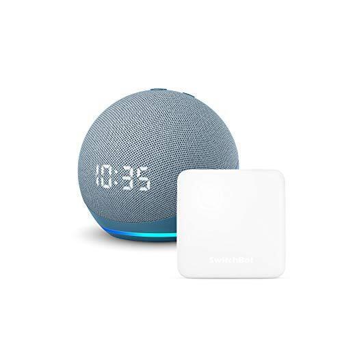 【セット買い】Echo Dot (第4世代) 時計付き トワイライトブルー   スイッチボット Hub Mini スマートリモコン